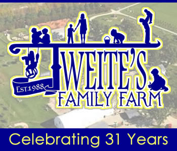 Tweite's Family Farm - Corn Maze, Pumpkin Patch, Games, Activities, Fall Fun, Treats and more!  Spookley, VIP, Fall, Agri Tourism, Family, Kids, Fudge, Popcorn, Wagon Rides, Outdoor, Giant Golf, Gold Pan, Scare Crow, Caramel Apples, Byron, Rochester, Kasson, Mantorville, Stewartville, Harvest Festival, Sever's Fall, Pinters, Tews Corn Maze, Twin Cities, Olmsted County, Owatonna, Mayo, St. Charles, Albert Lea, Mason City, Iowa, Cresco, Decorah, Faribault, Pine Island, Zumbrote, Cannon Falls, Red Wing, Plainview, Goodhue, Chatfield, Spring Valley, Austin, Spam, Wisconsin, Blooming Prairie, Wabasha, Lake City, La Crosse, St. Paul, Minneapolis, games, Food Court, September, October, VIP Pass, Groups, Tom, Colleen